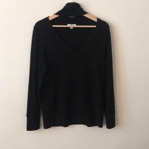 LNA Black Choker Style Cutout sweater sz M